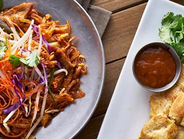 Authentic Thai Lunch or Dinner in Belconnen with Sides and a Glass of Wine or Beer per Diner is Just $45 for Two People or $88 for Four People (Valued Up To $185.20)