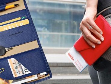 Store All Your Essential Travel Documents with This Travel Document Organiser! This Organiser Can Store Your Passport, Plane Tickets, Money, Cards and More. From $12