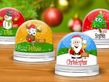 Personalised Snow Globe: One ($9.99), Two ($17.99) or Three ($24.99) (Don't Pay up to $74.97)