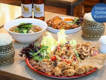 Thai Tasting Platter with Dessert and Beer for Two ($39) or Four ($78) People at @Bangkok (Up to $212.80 Value)