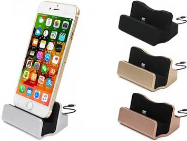 Desktop iPhone Charging Dock with Braided Cable: One ($9.95) or Two ($14.95)