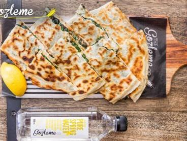 Delicious Gozleme & Bottle of Water