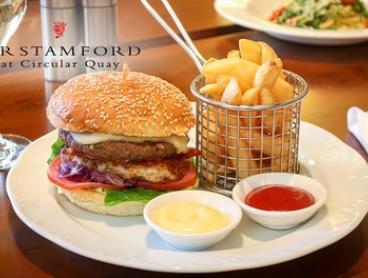 Weekday Lunch with Wine for One ($20), Two ($38) or Four People ($72) at Sir Stamford Circular Quay (Up to $160 Value)