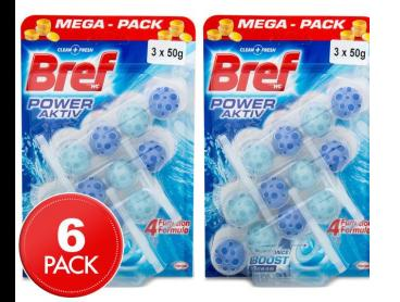 2 x Bref In Bowl Toilet Block Ocean 50g 3pk