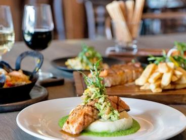 Three-Course Waterfront Dining + Wine for Two ($59) or Four ($118) People at Oscars Table, Docklands (Up to $276 Value)
