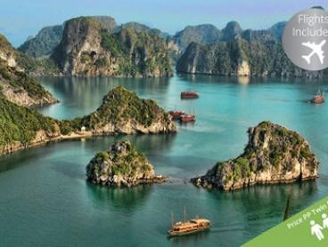 Vietnam: $2,299 Per Person for a 15-Day Getaway with International Return Flights and Meals with Halong Tours Booking