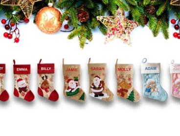 Personalised Christmas Stockings: One ($12), Two ($23), Three ($33) or Four ($40) (Don't Pay up to $159.80)