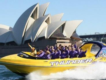 Jet Boat Ride for 1 ($39), 2 ($78), 4 ($156) or 6 People ($234) with Thunder Jet, Sydney Harbour (Up to $474 Value)