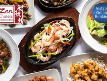 Two-Course Chinese Dinner with Wine for Two ($35) or Four People ($65) at Zen Chinese Restaurant (Up to $140.80 Value)