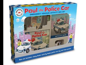 Paul The Police Car Emergency Vehicles Activity Box Set