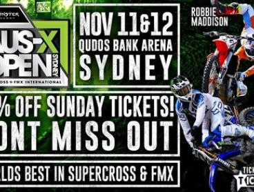 Monster Energy AUS-X Open at Qudos Bank Arena: Tickets from $30, 11 & 12 November (Up to 25% Off)