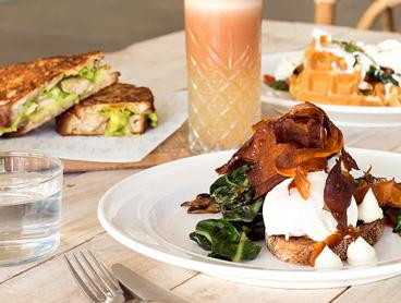 All-Day Breakfast or Lunch with Choice of Hot or Cold Drink Each on Moore Street in the City, Just $29 for Two People or $55 for Four People (Valued Up To $106)