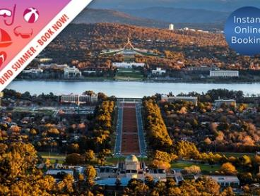 Early Bird Special, Canberra: 1 to 2 Nights for Two with Wine and Late Check-Out at Brassey Hotel Canberra