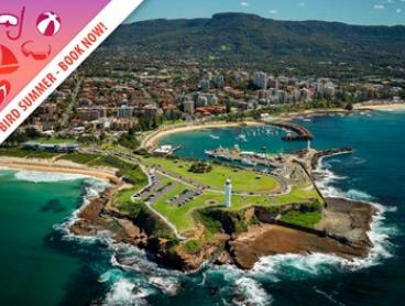 Wollongong: One- or Two-Night Stay for Two People with Wine, Parking and Late Checkout at Marketview