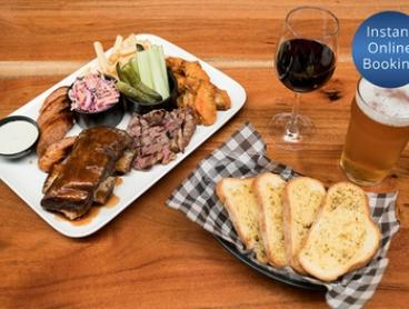 Chef's Platter with Wine or Beer for Two ($39) or Four People ($69) at Cabin 401 Bar And Grill (Up to $119 Value)