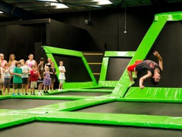 Two-Hour Trampoline Park Entry for 1 ($15), 2 ($28) or 4 People ($56) at Flip Out North Wollongong (Up to $104 Value)