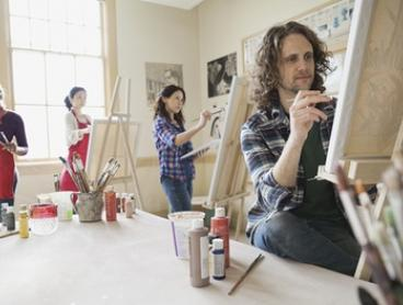 Two-Hour Social Painting Night for 1 ($39) or 2 People ($75) with Life with Paint, Multiple Locations (Up to $130 Value)