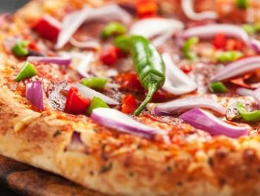 Two Large To-Go Pizzas ($19) + Garlic Bread, Cheesecake and Soft Drink ($29) at Base Pizza Bar (Up to $54.30 Value)