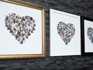 Personalised Collage Framed Canvas Print: Regular ($12) or Large ($20) (Don't Pay up to $149)