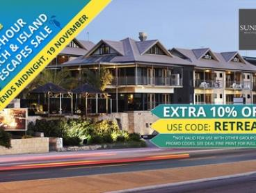 Perth, Scarborough: Boutique Hotel Getaway for Two People with a Choice of Entree or Pizza at Sunmoon Boutique Resort