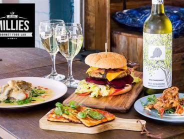 Gourmet Cafe Meal with Wine or Beer