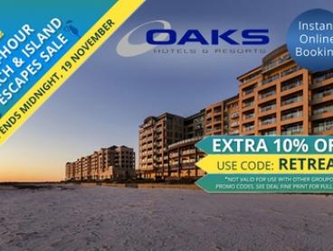 Glenelg, Adelaide: 2-, 3-, or 7-Night Beach Holiday for Two or Four at the Oaks Plaza Pier