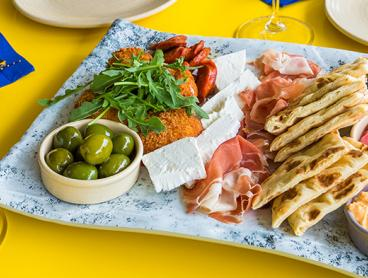 Mediterranean Antipasto Platter with Greek Wine in Turner - Just $39 for Two People or $78 for Four People (Valued Up To $164)