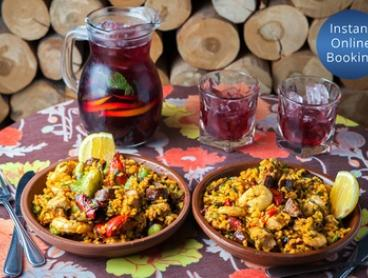 Paella with Sangria for Two ($45), Four ($88) or Eight People ($169) at Toro Bravo (Up to $296 Value)