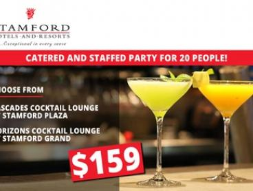 $159 for Catered and Staffed Party for 20 People at Stamford Plaza or Grand Hotel (Up to $810 Value)