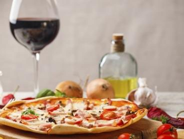 Pizza or Pasta and Wine for Two ($22) or Four ($44) at Awarded The Darling Pizzeria (Up to $100 Value)