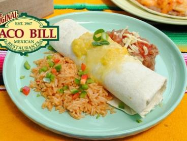 Choice of Any Large Burrito with a Soft Drink for One ($13) or Two ($25) at Taco Bill - Camberwell (Up to $58 Value)