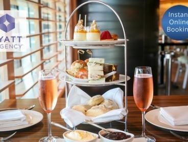 High Tea + Glass of Chandon Brut Rosé for 2 ($69) or 4 people ($129) at The Sailmaker Hyatt Regency (Up to $396 Value)