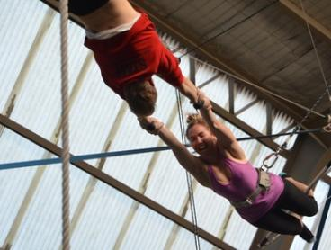 $55 for Two-Hour Flying Trapeze Class with Photo CD at Sydney Trapeze School (Up to $107 Value)