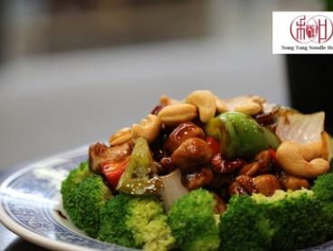3-Course Chinese Dinner with Wine for 2 ($35), 4 ($69) or 6 People ($102) at Nong Tang Noodle House (Up to $243 Value)