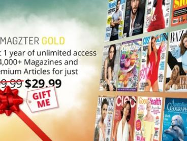 12 Months of Unlimited Online Magazines for $29.99 from Magzter (Don't pay $99.99)