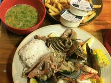 Seafood Feast with Drinks for Two ($29) or Four People ($58) at The Fish Chip Shop By ChefHire (Up to $125.80 Value)