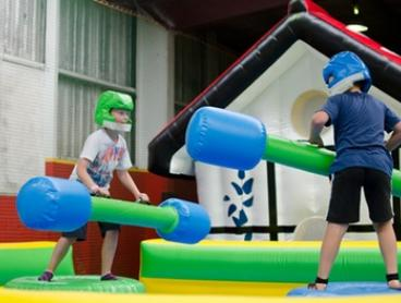 Entry to Inflatable World - Warners Bay: One ($9), Two ($18), Three ($27) or Four People ($36) (Up to $60 Value)