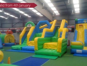 Entry to Inflatable World - Ballajura: One ($10), Two ($20) or Four People ($40) (Up to $64 Value)
