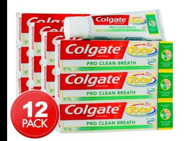 12 x Colgate Total Pro Clean Breath Toothpaste 100g