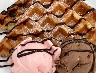 Vegan Waffles with Two Scoops of Gelato Each for One (£6) or Two People ($12) at Gelato 101 (Up to $21 Value)