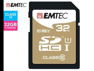 EMTEC SDHC Class 10 Gold+ 32GB SD Card