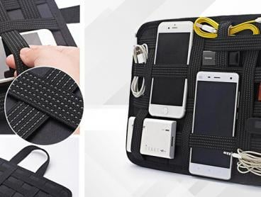 Make Sure All Your Gadgets Are on Hand and None of Your Cables Get Tangled with This Handy Travel Bag and Organiser. From $19