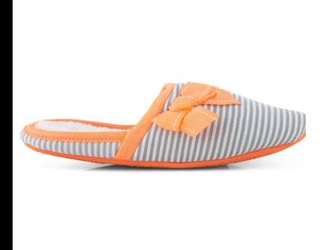 Grosby Women's Cruise Slipper - Grey/Orange