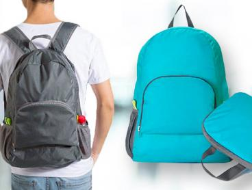 Carry Your Essentials in a Handy Foldable Backpack, Ideal for Sports, Travel or School Use. From $15