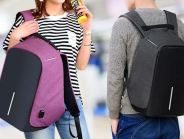 Travel with Confidence with this Anti-Theft, Water-Resistant Backpack with Charging Port! It's the Ideal Travelling Companion From Only $29 or $49 to Include an Powerbank