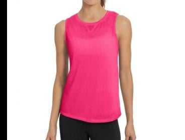 Champion Women's Authentic Wash Muscle Tee - Pop Art Pink