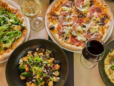 Trendy Italian Pizza or Pasta Lunch in New Acton with Wine or Beer - Just $35 for Two People or $70 for Four People (Valued Up To $172)