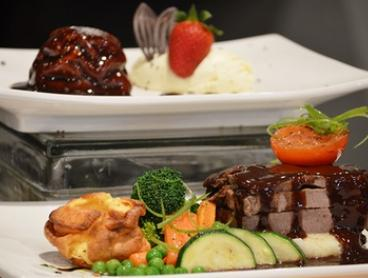 From $35 for Roast Beef Dinner and Dessert at Buffet Amici Italian and Mediterranean Style Cuisine (From $65 Value)
