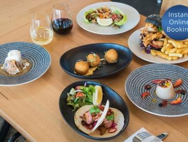 Three-Course Lunch or Dinner with Drink for Two ($59) or Four People ($118) at Two Fat Monks (Up to $216 Value)