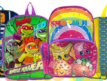 Kit Out Your Kids For School and Travel with These Amazing Kids' Backpacks! Featuring Disney Princesses Designs and Teenage Mutant Ninja Turtles and More! From Only $15